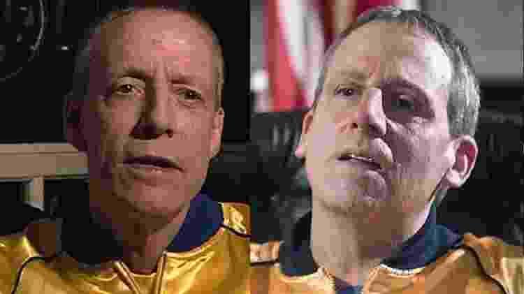 John Du Pont e Steve Carell - Reprodução/Montagem - Reprodução/Montagem