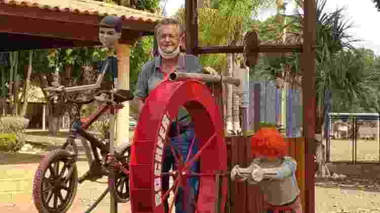 Tido, inventor da charrete mecanizada - Arquivo Pessoal - Arquivo Pessoal