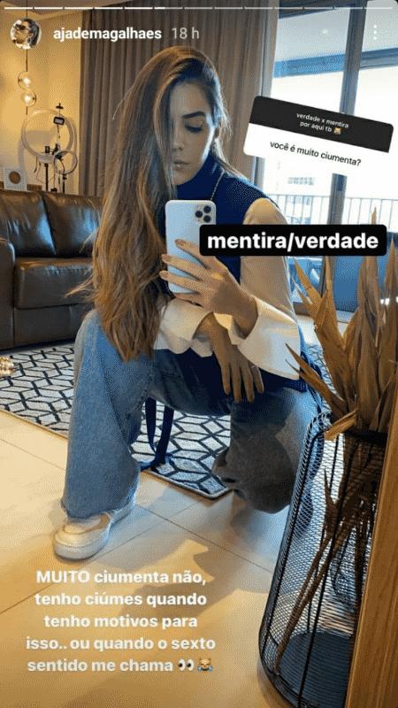Story de Jade Magalhães - Reprodução/Instagram - Reprodução/Instagram