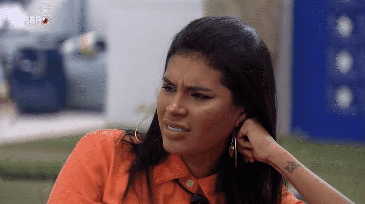 BBB 21: Pocah reage ao ouvir Fiuk dizer que está com medo de Arthur - Reprodução/Globoplay - Reprodução/Globoplay
