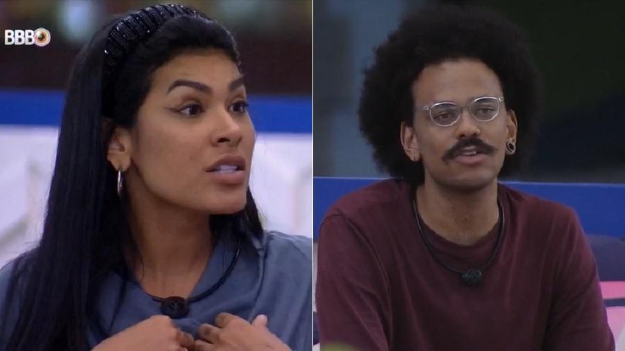 BBB 21: João Luiz e Pocah conversam sobre placa não ganha do jogo da discórdia - Reprodução/Globoplay