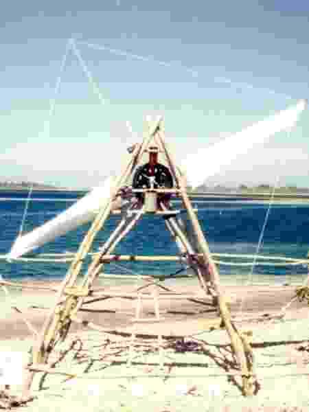 O moinho de vento construído na ilha - Arquivo pessoal - Arquivo pessoal