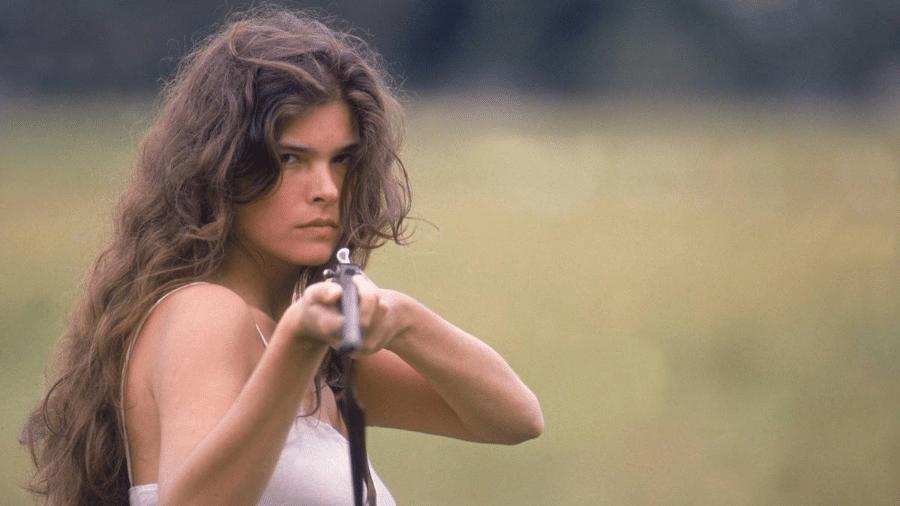 """Cristiana Oliveira como Juma Marruá na versão original da novela """"Pantanal"""" - Reprodução"""