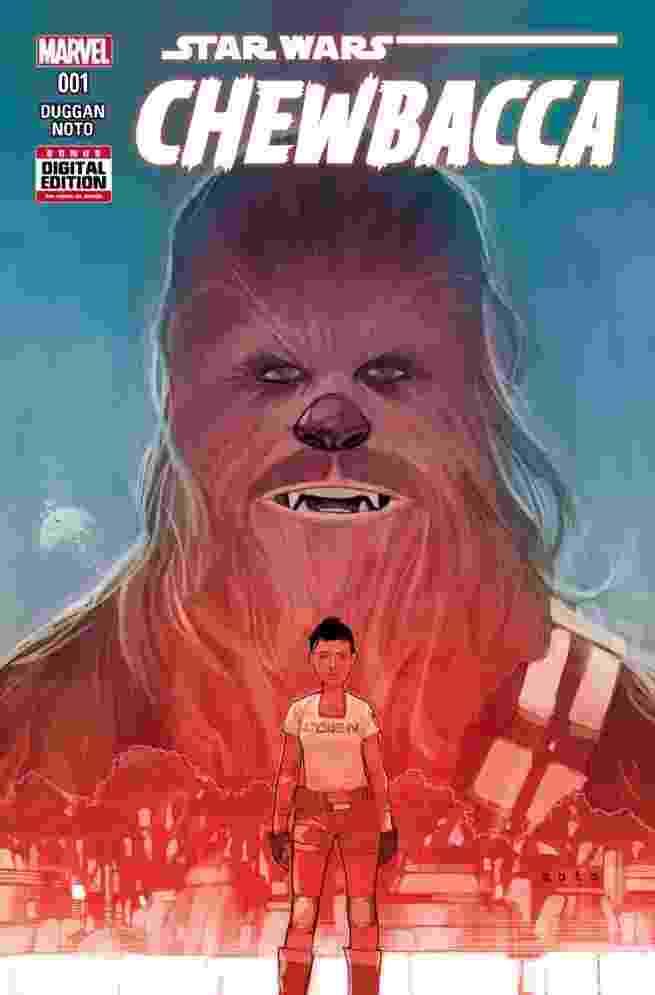 Capa do 1ª revista em quadrinhos do Chewbacca, que será lançada em outubro - Reprodução