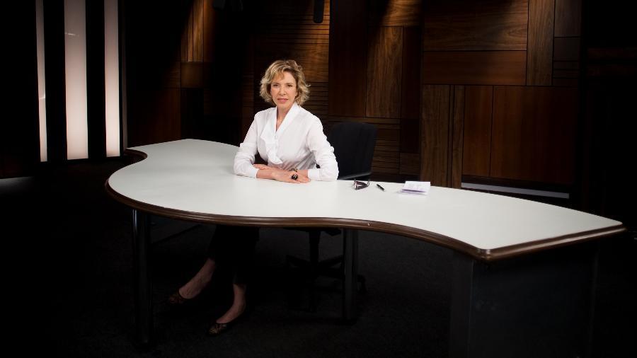 """Marília Gabriela nos estúdios do programa """"Marília Gabriela Entrevista"""", exibido no GNT - Jefferson Coppola/Folhapress"""