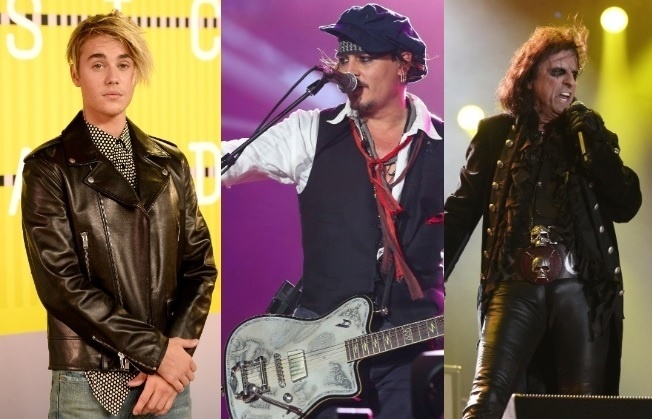 Justin Bieber, Johnny Depp e Alice Cooper: estrelas do Grammy