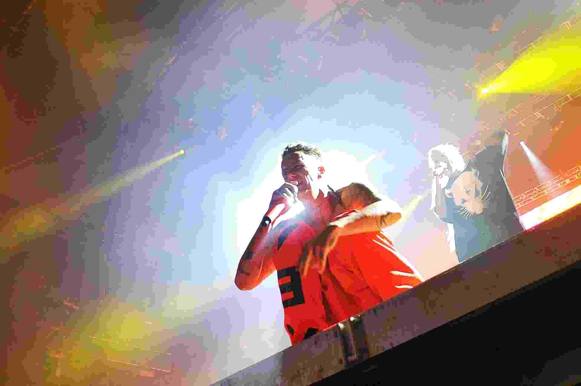 12.mar.2016 - Os sul-africanos do Die Antwoord se apresentam no Lollapalooza Brasil 2016 - Reinaldo Canato/UOL