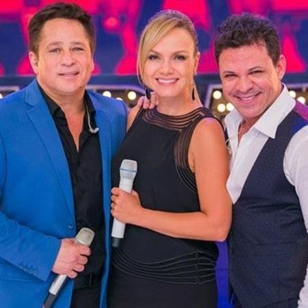 Eliana com Leonardo e Eduardo Costa - Divulgação/SBT