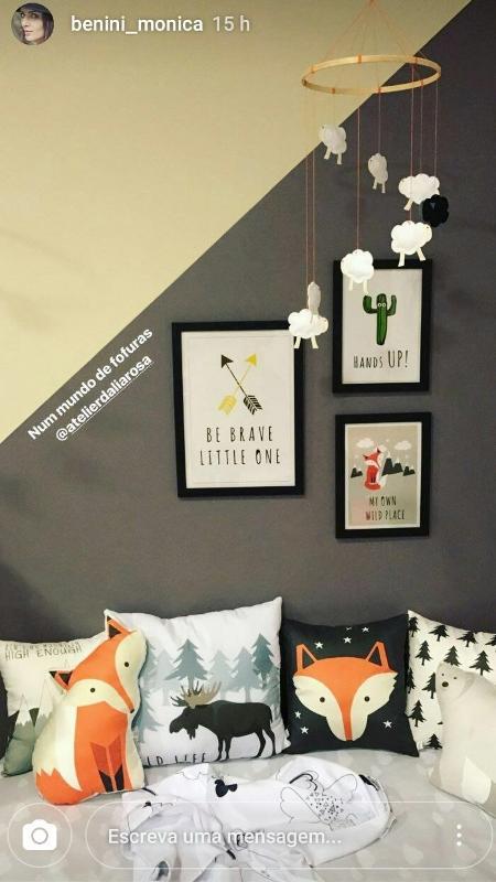 Detalhes do quarto de Otto, primeiro filho de Junior Lima e Monica Benini - Reprodução/InstagramMonicaBenini
