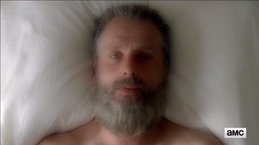 """Rick velho em trailer da oitava temporada de """"Walking Dead"""" - Reprodução/Facebook"""