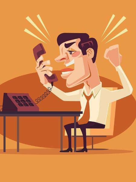 Falar alto no telefone no ambiente de trabalho é sinal de desrespeito - Getty Images