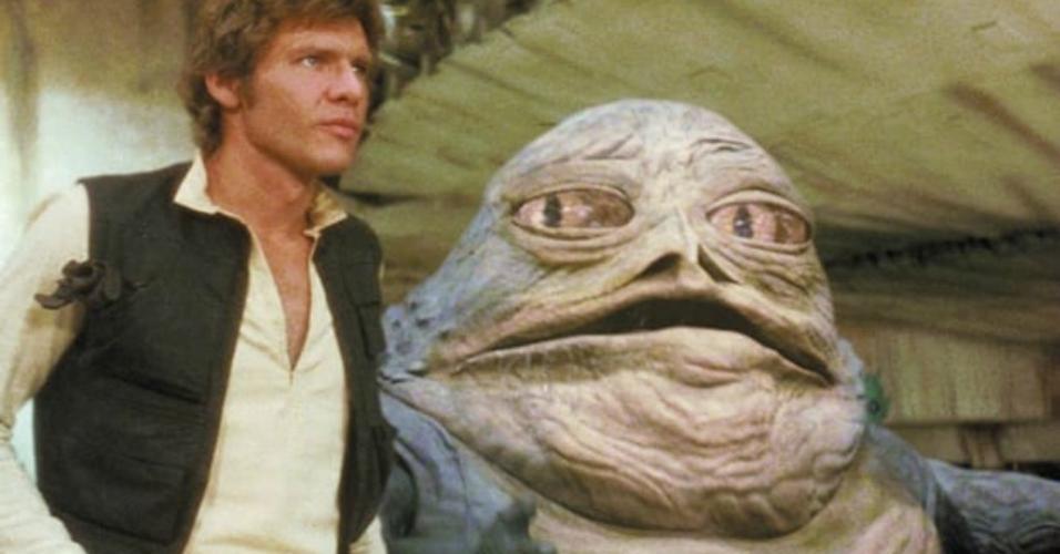 """Cena de """"Star Wars: Episódio IV - Uma Nova Esperança (1977)"""""""