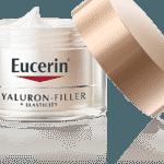 Hyaluron-Filler+Elasticity, Eucerin, R$ 224, www.eucerin.com.br. Combina cinco antioxidantes para reduzir rugas profundas. Possui versão para o dia (com FPS 15) e para a noite. - Divulgação