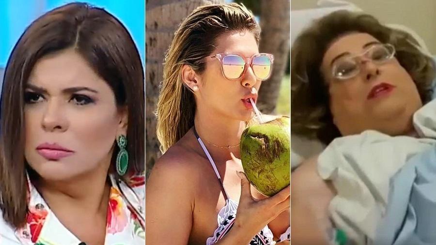 """Mara Maravilha, Lívia Andrade e Mamma Bruschetta desfalcam o """"Fofocalizando"""" nesta segunda-feira (9) - Reprodução/SBT"""