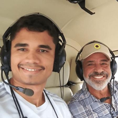 Lulu Santos ao lado do namorado, Clebson Teixeira - Reprodução/Instagram