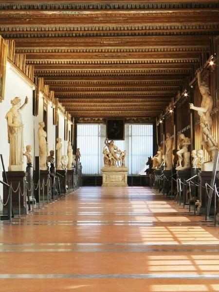 Galleria degli Uffizi, em Florença - Reprodução/Instagram