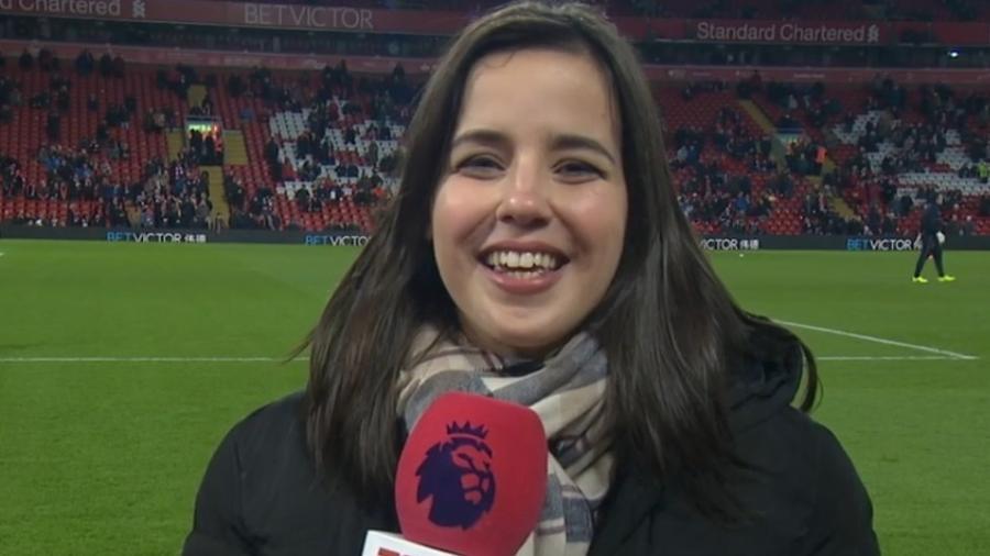 Natalie Gedra é a repórter da ESPN nas transmissões da Premier League - ESPN
