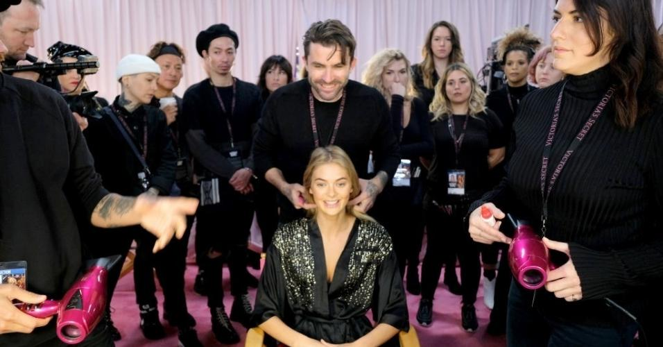 Victoria's Secret Fashion Show 2018: os bastidores das angels sem maquiagem