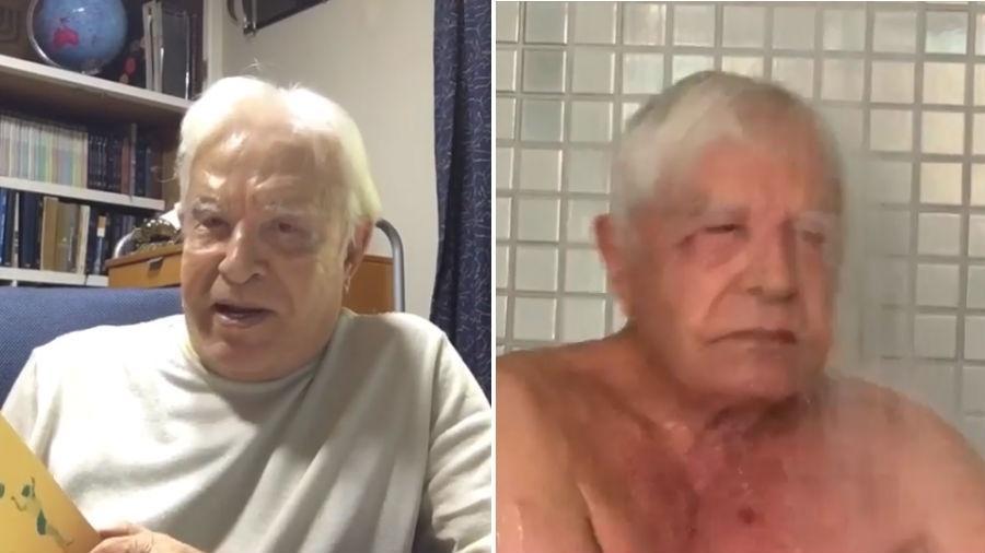 Cid Moreira fala sobre velhice e toma banho de ducha após sauna - Reprodução/Instagram
