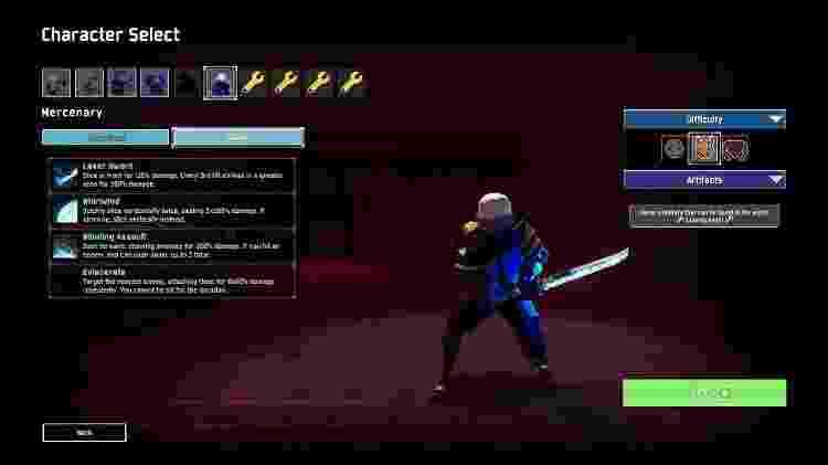 O Mercenary é o único personagem com ataques corpo a corpo - Reprodução