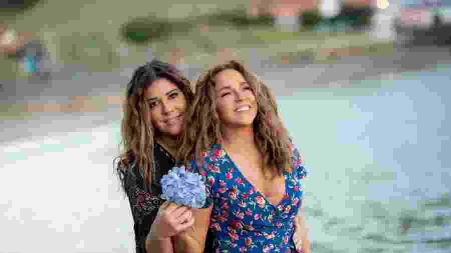 Daniela Mercury e Malu Verçosa durante cerimônia de casamento na Ilha do Faial - Divulgação