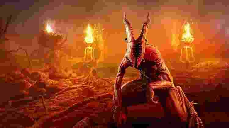 Uma Onoskelis em seu ambiente natural, o inferno - Divulgação