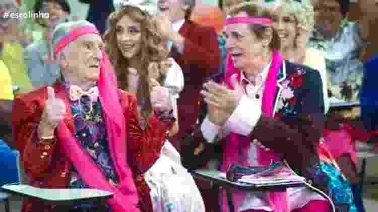 Elenco da Escolinha cantou parabéns a Orlando Drummond por seus 100 anos - Reprodução/TV Globo