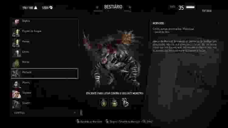 Witcher Bestiário - Reprodução - Reprodução