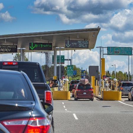 Fronteira dos Estados Unidos com o Canadá - Getty Images