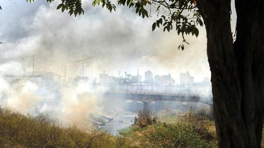 Manaus com fumaça das queimadas - Euzivaldo Queiroz/A Crítica