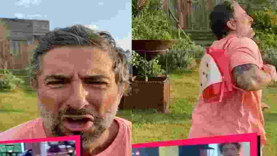A Fazenda 2020: Mion faz sátira e reproduz briga de Jake com Tays na festa - Reprodução/Playplus