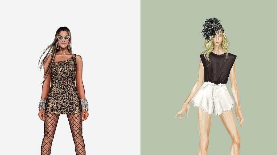 Ivete Sangalo e Claudia Leitte apostaram em looks acessíveis para o Carnaval 2021 - Divulgação