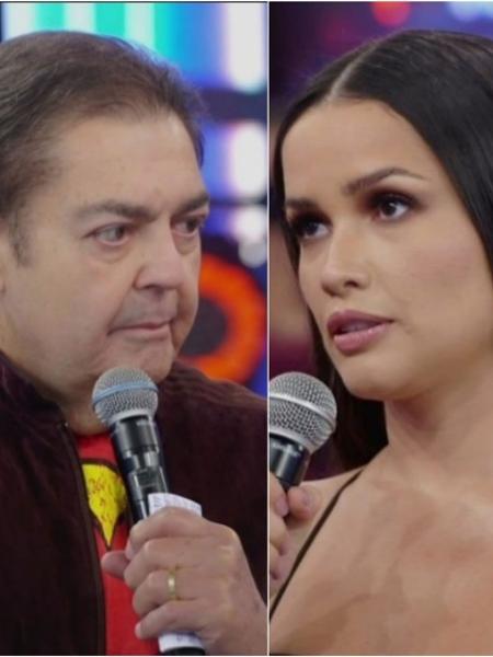 Faustão anuncia fim de programa a Juliette - Reprodução/Twitter/TV Globo Montagem/UOL