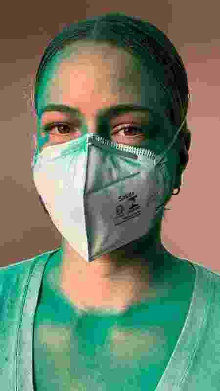 Leandra e o marido produziram dez vídeos orientando sobre o uso correto de diversos tipos de máscara - Divulgação/João Marcio - Divulgação/João Marcio