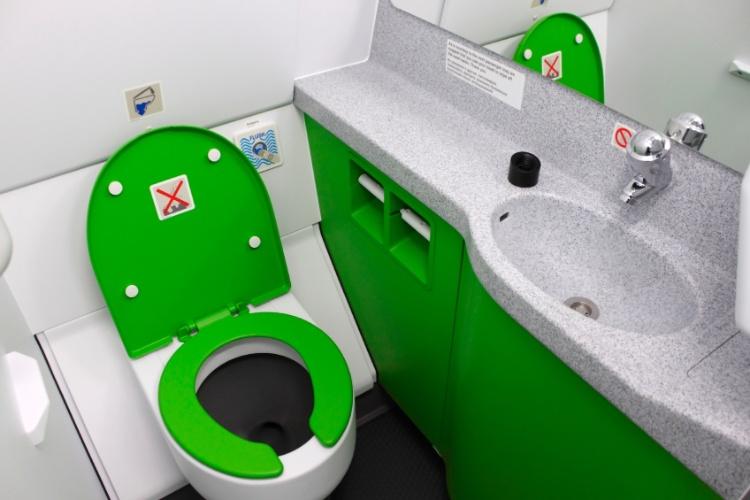 vaso sanitário em avião