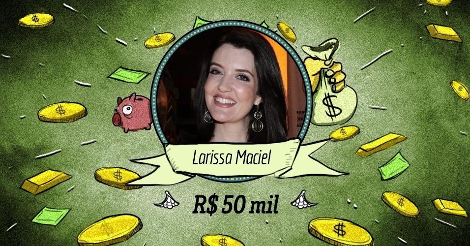 """LARISSA MACIEL: Outra estrela descartada pela Globo e que hoje brilha e ri à toa na Record. Seu salário deve estar na casa dos R$ 50 mil ou R$ 60 mil mensais, que é  mais do que ela recebeu interpretando a cantora """"Maysa"""" em minissérie na Globo"""