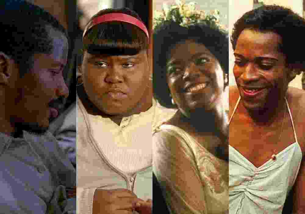 """Cenas dos filmes """"O Nascimento de Uma Nação"""" (2016), """"Preciosa: Uma História de Esperança"""" (2009), """"A Cor Púrpura"""" (1985) e """"Madame Satã"""" (2002) - Reprodução/Montagem"""