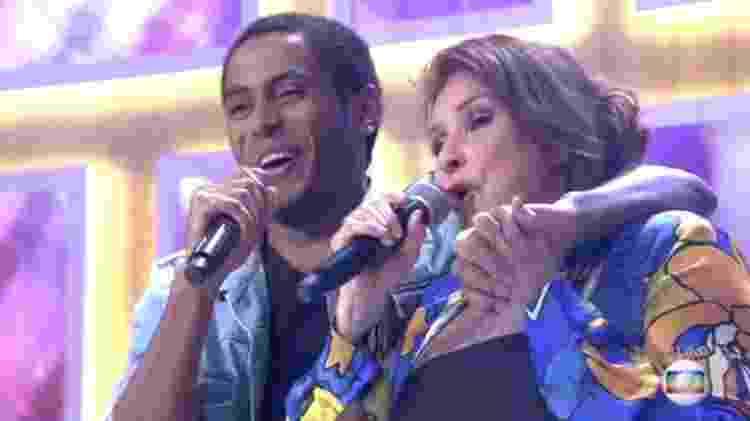"""Ícaro Silva canta """"Nuvem de Lágrimas"""" com Fafá de Belém - Reprodução/Globo - Reprodução/Globo"""