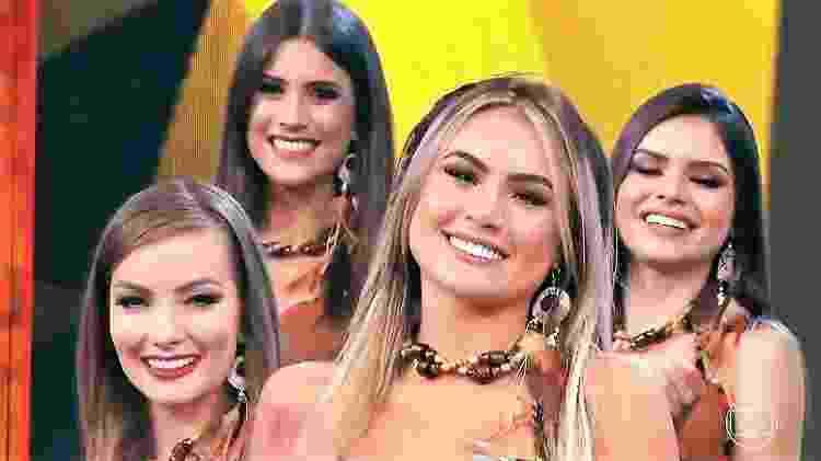 """Natacha Horana ao lado das bailarinas do """"Domingão"""" - Reprodução/Instagram - Reprodução/Instagram"""
