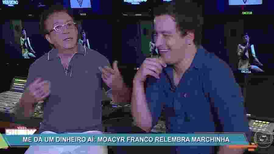 """Moacyr Franco foi entrevistado por Rafael Cortez para o """"Vídeo Show"""" - Reprodução/Globo"""