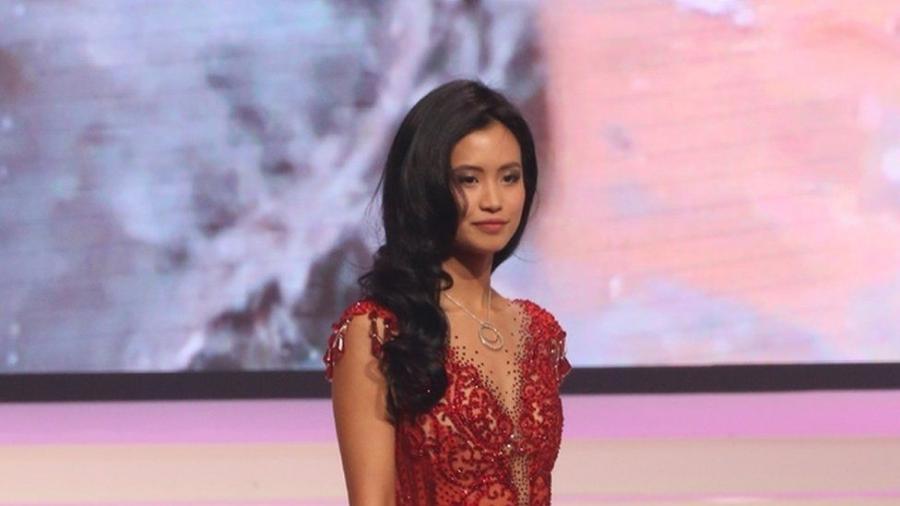 A belga, que estuda para ser pilota de avião, diz que nunca havia sofrido esse tipo de ataque - Divulgação/Miss Bélgica