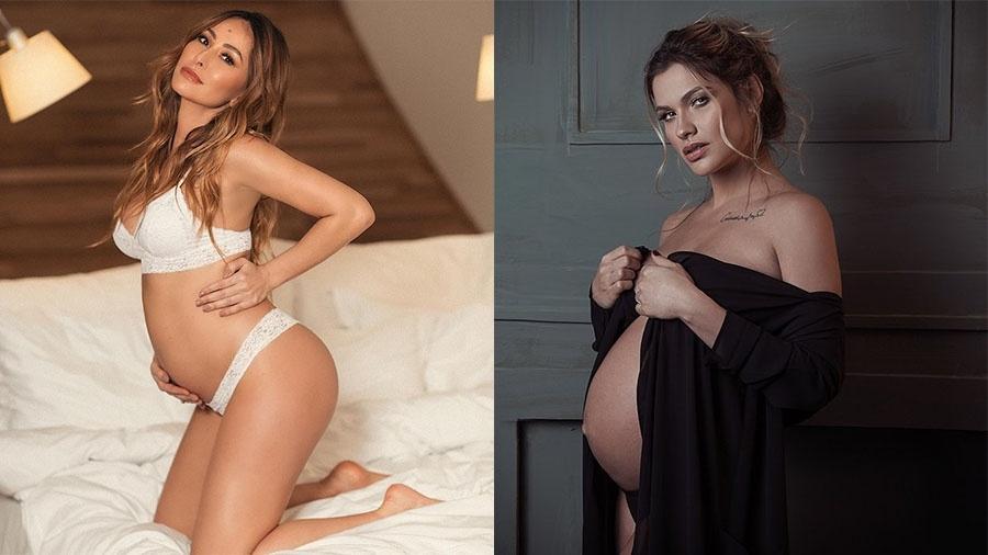 Sabrina Sato e Andressa Suita exibem orgulhosas seus barrigões nas redes sociais - Reprodução/Instagram