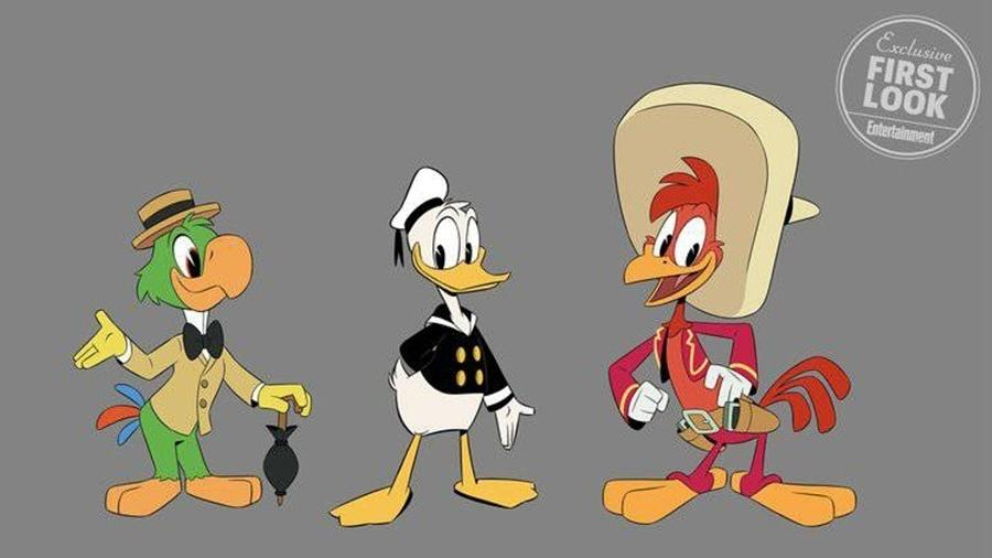 """Zé Carioca, Pato Donald e Panchito em """"DuckTales"""" - Reprodução/Entertainment Weekly"""
