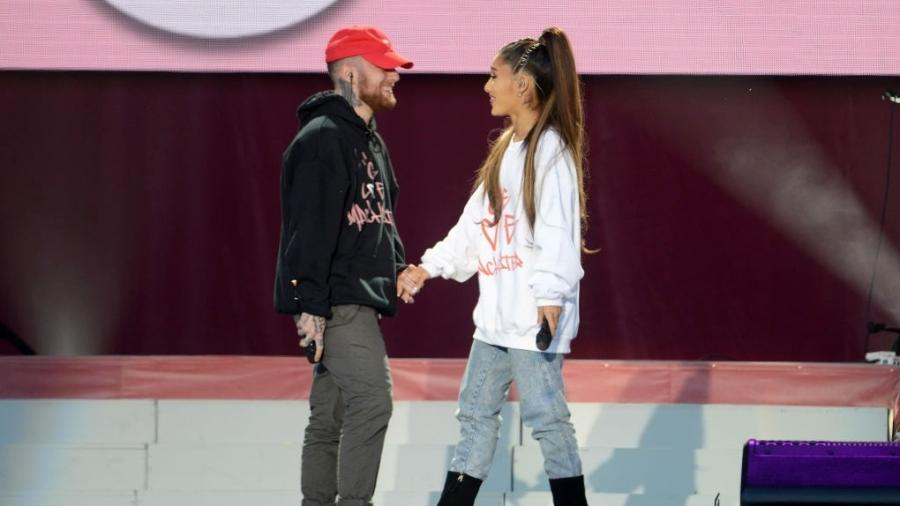 Ariana Grande e Mac Miller ficaram juntos, oficialmente, por dois anos - Getty Images