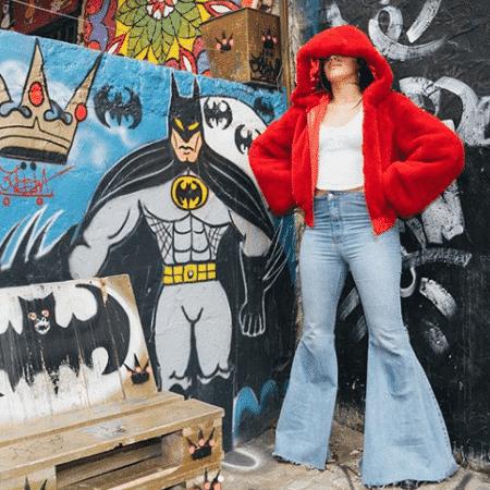 Camila Cabello dá um pulo no Beco do Batman, na Vila Madalena - Reprodução/Instagram