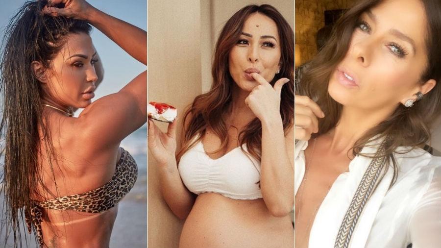 Gracyanne Barbosa, Sabrina Sato e Adriane Galisteu dão conselhos sobre sexo - Fotomontagem/Reprodução/Instagram