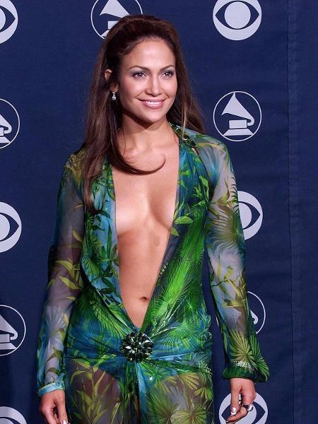 Jennifer Lopez no Grammy de 2000 - France Presse- AFP