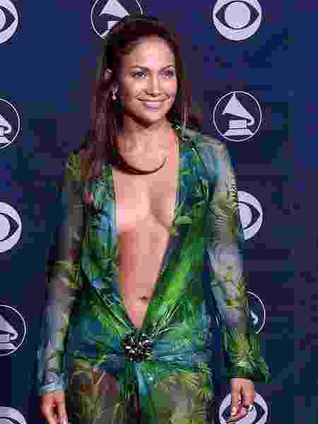 Jennifer Lopez no Grammy de 2000 - France Presse- AFP