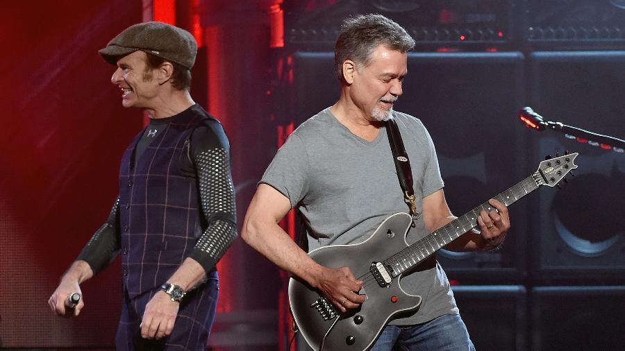 David Lee Roth e Eddie Van Halen durante shows realizados em 2015 - Ethan Miller/Getty Images