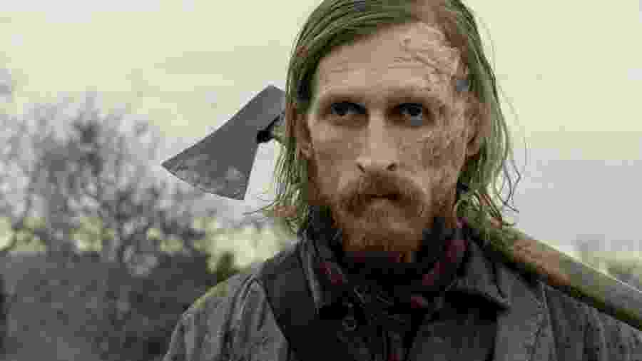 "Austin Amelio como Dwight na quinta temporada de ""Fear the Walking Dead"" - Divulgação"